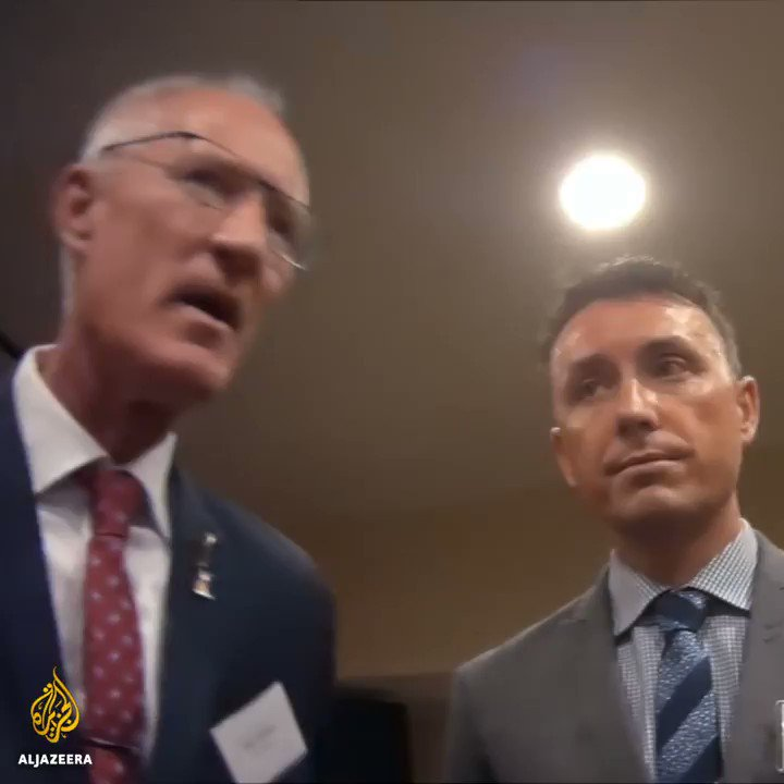 In Washington, Dickson regaled NRA members with stories about Muslims invading Australia.   Our investigation reveals how the politics of fear sells guns.   http://aljazeera.com/howtosellamassacre… #HowToSellAMassacre