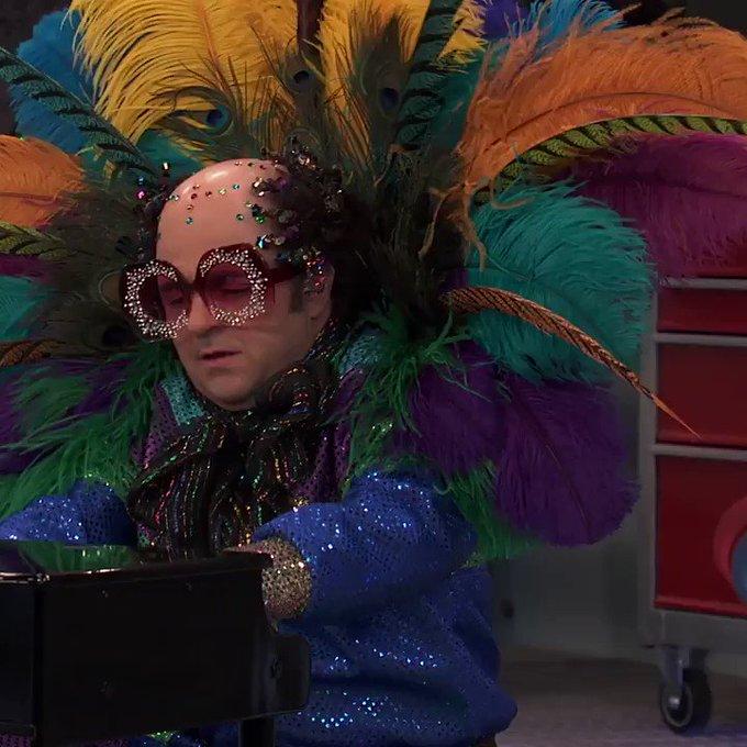 *Softly plays Happy Birthday for Elton John*