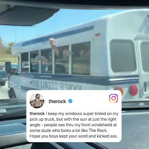 The Rock encouraged some kids on their way to their baseball game �� (via @TheRock) https://t.co/y6L5x8pxzl