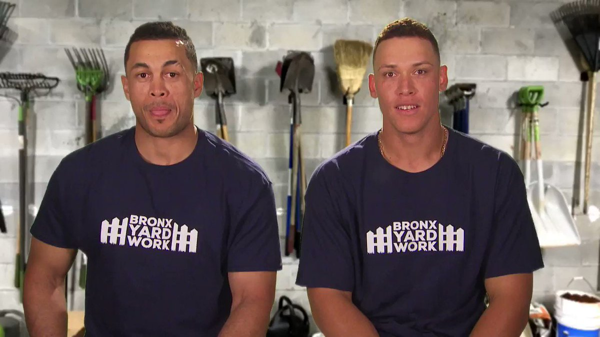 RT @Yankees: Everyone's talking about the hottest new business in town: Bronx Yard Work. https://t.co/pmAWE4pT0f
