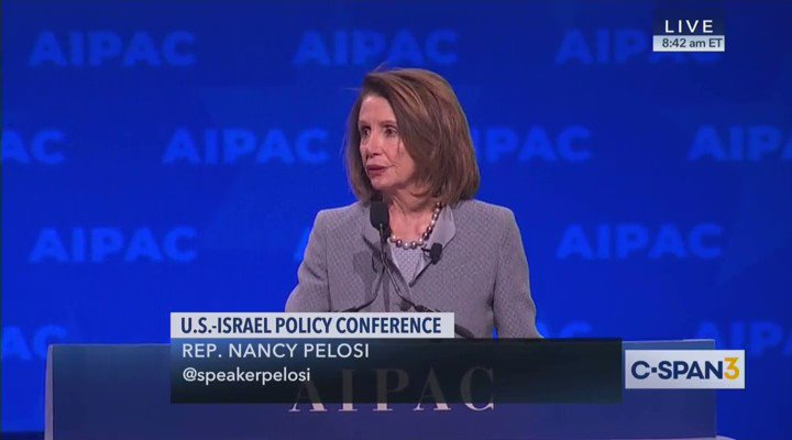 This again is very disturbing - #NancyPelosi has serious issues NO ONE but #WeThePeople want to address. She is the 3rd in line for the Presidency Speech at #AIPAC cereal..uh Syria? Geeze!