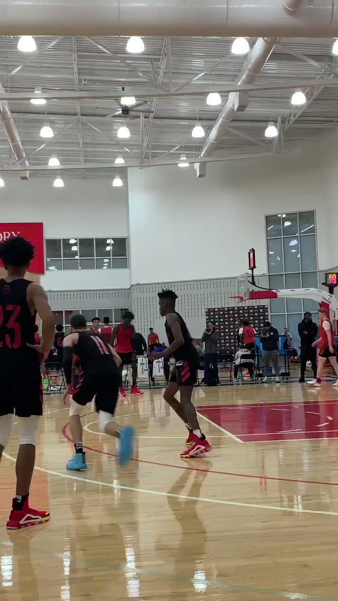 Louisville commit Samuel Williamson has shown flashes these last two days at 6-7 with polished footwork and soft touch. Strong skill foundation.