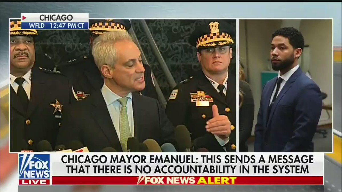 ".@ChicagosMayor on Jussie Smollett:   ""This is a person who has been let off scot-free. You have a person using hate crime laws to advance your career. Is there no decency in this man?"""