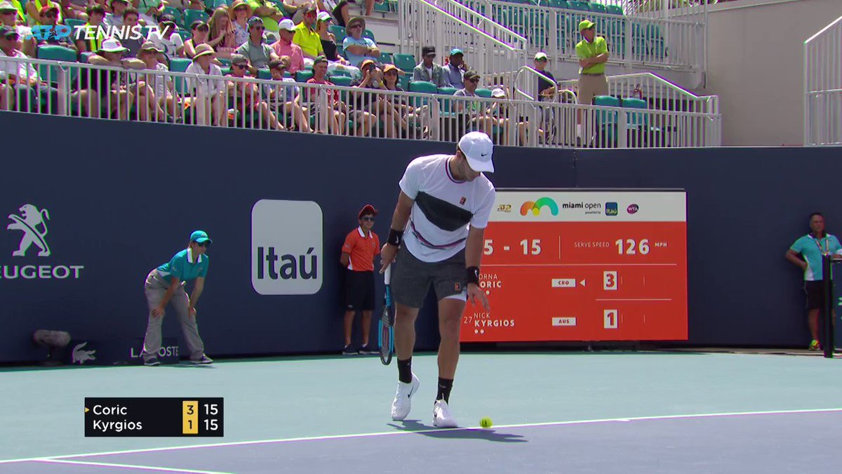 Simply INCREDIBLE!🔥 Outrageous skill from @NickKyrgios at the #MiamiOpen 👏 🎥: @TennisTV