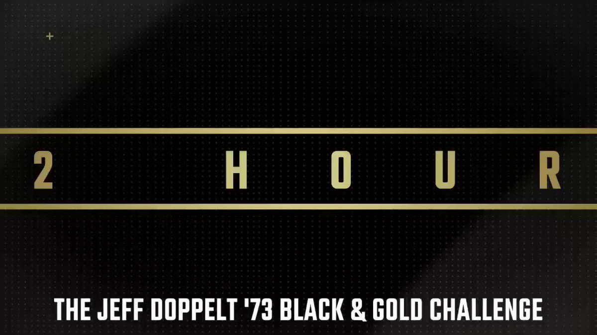 22 hours.  22 teams.   The Jeff Doppelt '73 Black and Gold Challenge begins tomorrow at 2pm!   #GoBryant