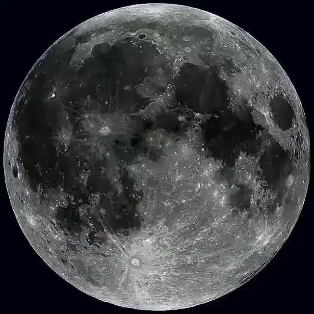 Rotación completa de la Luna en alta definición.