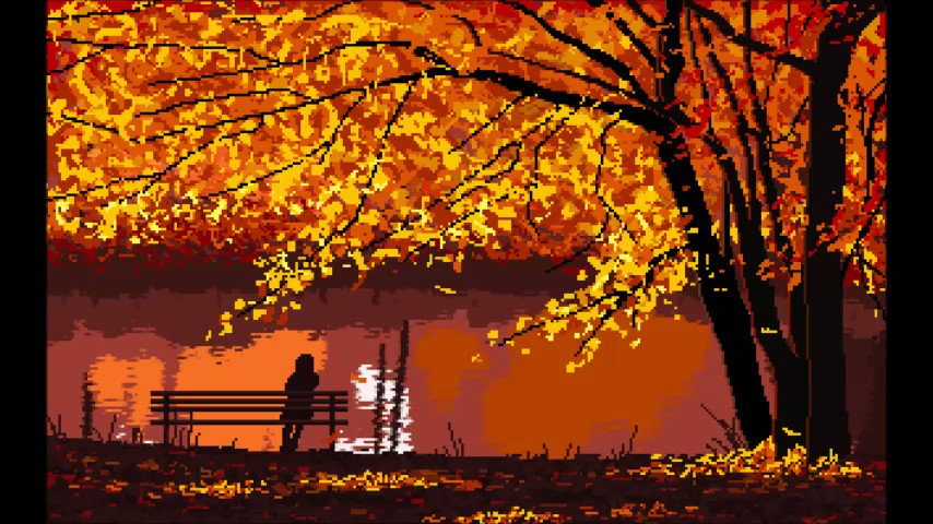 🍁🍂✨ I miss you #pixelart #aseprite @aseprite #gamedev #ドット絵 #art #animation