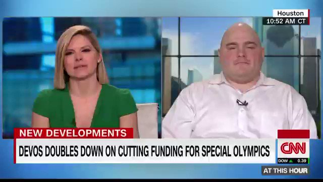 """It's part of my heart and I love it very much."" @TankSchottle says the #SpecialOlympics has been the biggest thing in his life for 18 yrs. Great news for him tonight that fed funding won't be cut. Here's our convo before that announcement."