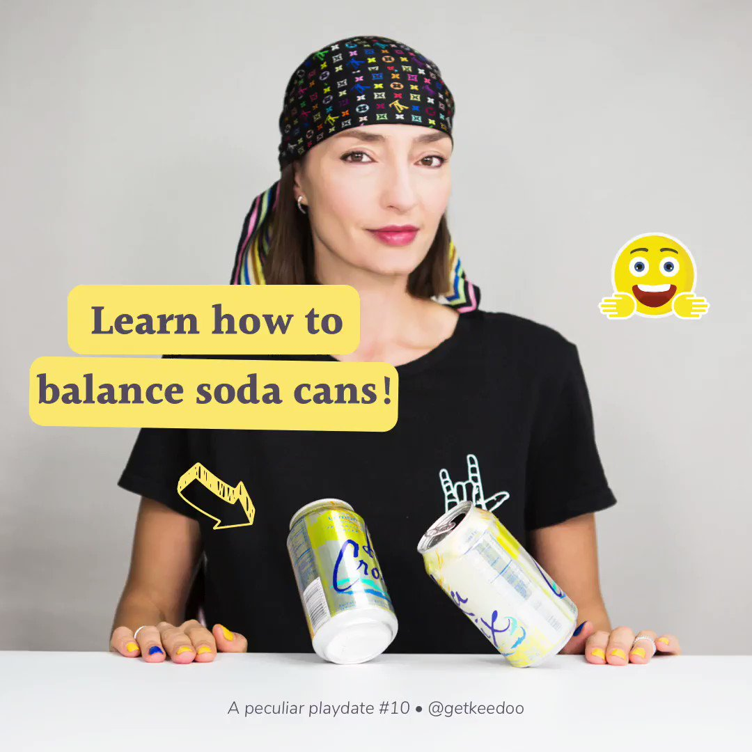 Balancing soda cans is not only an exercise in finesse! It can also teach you and the kids about the center of gravity 😉 —— #stem #stemgirls #stemwomen #stemeducation #playmatters #earlylearning #teachersfollowteachers #invitationtoplay #letthemexplore #earlylearning101 https://t.co/6QDodcX0lS