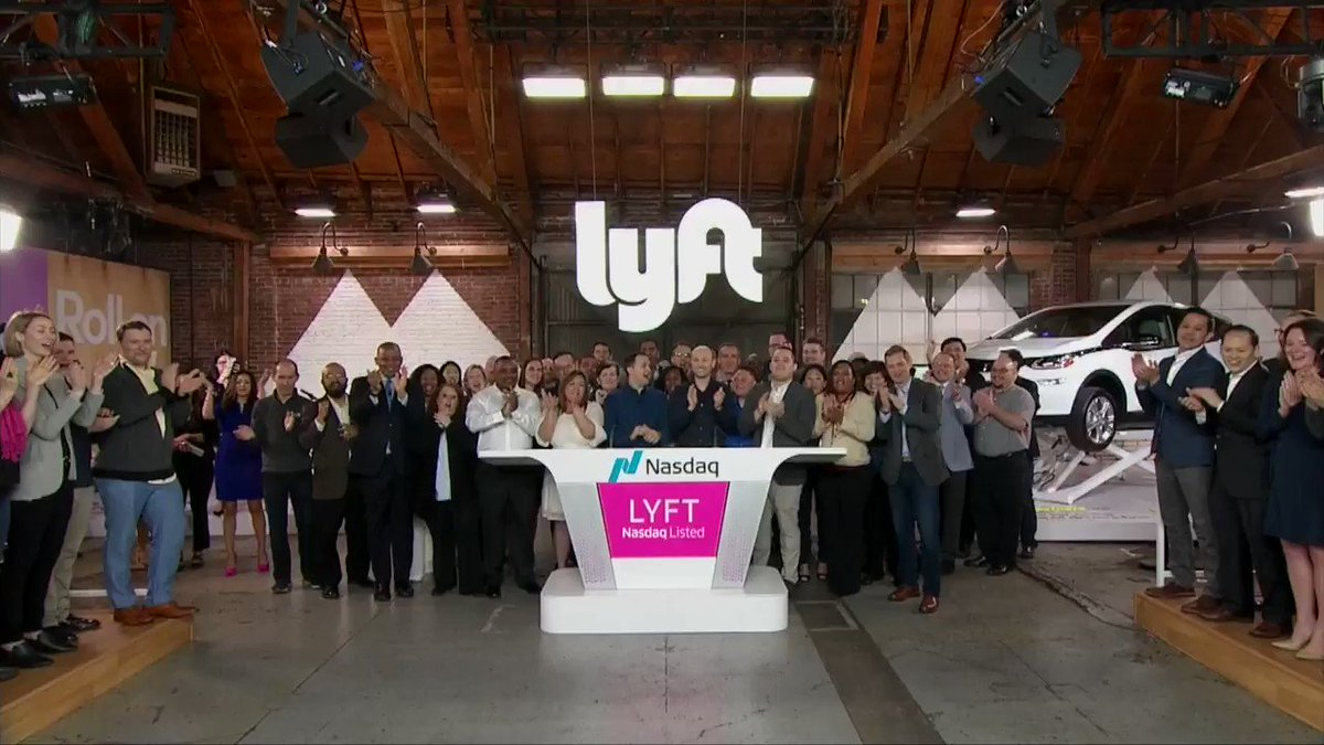 And so my coverage for @reuterstv of Lyft's $Lyft Wall Street market debut begins with @LianaBaker .....