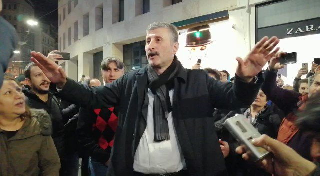 Alper Taş: Bu memleket, bu Beyoğlu, bu İstanbul bizim! https://t.co/127G4L0Yy0 https://t.co/Jv3mp22s3I