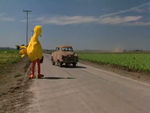 The Muppet Movie has one of the greatest meta jokes ever made.  And it's delivered by our favorite feathered friend 💛