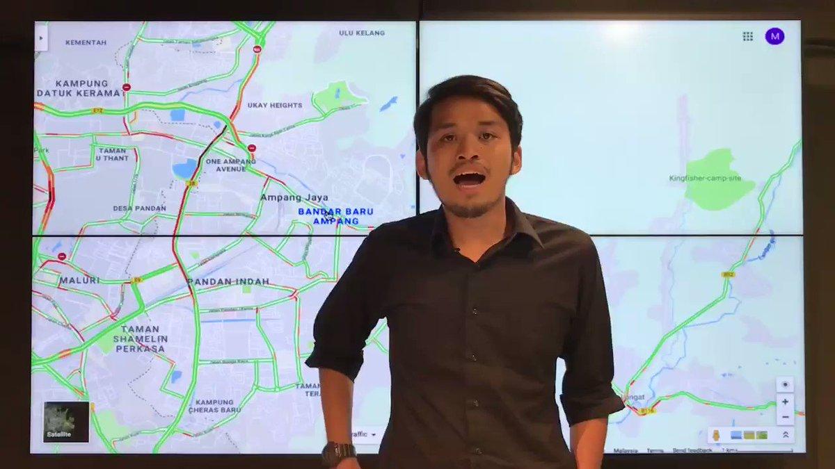 Image for the Tweet beginning: Kesesakan di Lebuhraya MRR2 dari