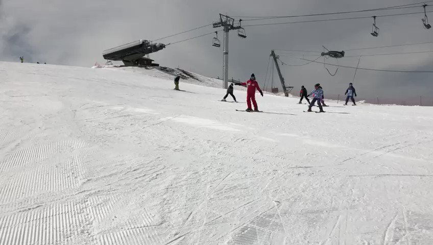 Our beginners have impressed their instructor, Jean-Pierre, so much that they have tackled chair lifts and green runs 2 days ahead of schedule. #carrotcrew #gfsskitrip #singwhileyouski #itsajollyholiday