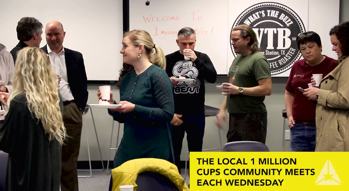 Tomorrow, #1millioncups' Brazos Valley community celebrates its second #anniversary of offering entrepreneurs and #business professionals #networking and learning over local #coffee.  LEARN MORE:   @TAMUMcFerrin @KauffmanFDN #entrepreneurship #Texas #bcstx