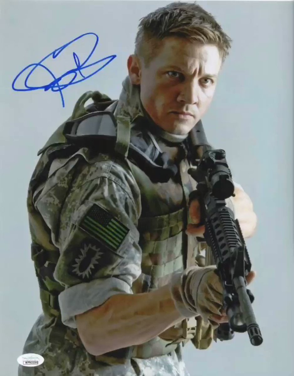 https://shopzobie.com/collections/new-arrivals-authentic-celebrity-autographs/products/jeremy-renner-autograph-11x14-avengers-hawkeye-signed-photo-jsa-coa-8 … Jeremy Renner Autograph 11x14 The Hurt Locker Signed Photo JSA COA #zobieproductions @JSALOA #WednesdayMotivation #wednesdaythoughts #thehurtlocker #Avengers #AvengersEndgame #AvengersInfinityWar #Hawkeye #thetown #HookEm #AlitaBattleAngel #31movie