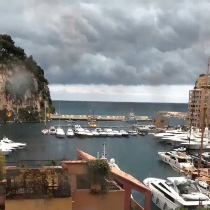 #unexpectedmonaco on a whole new level..  ⛈️