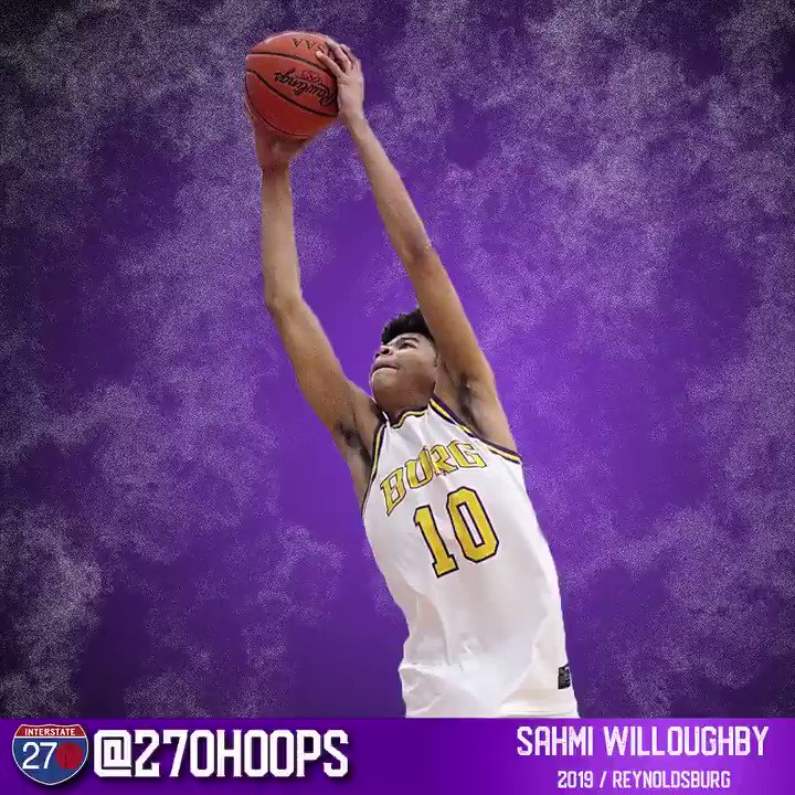 Sahmi Willoughby can GET UP! The Reynoldsburg senior had 20 points at Battle for the City last week. 🐰 @SWilloughby_10