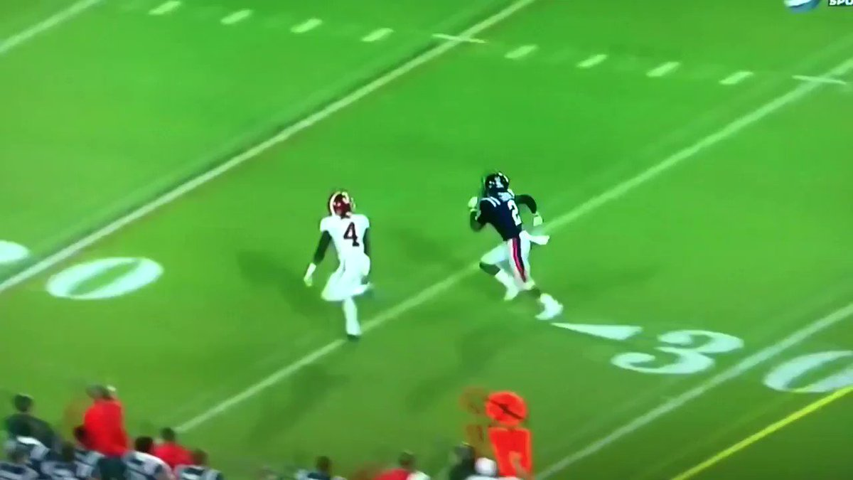 If most people stop on a dime, Jerry Jeudy stops on a nickel.