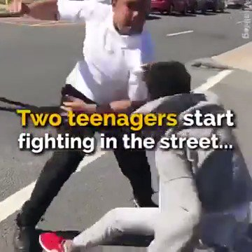 Watch this man brilliantly break up a street fight between two teenage boys.His name is Ibn Ali Miller. A 26-year-old Muslim man from Atlantic City.HERORetweet