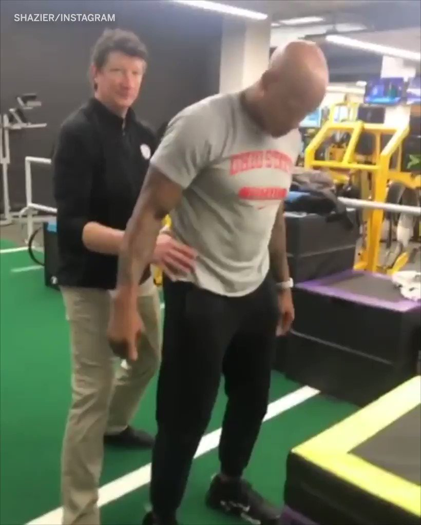 16 months ago a tackle left Ryan Shazier unable to walk.  He's now doing box jumps 🙏 (via @RyanShazier)