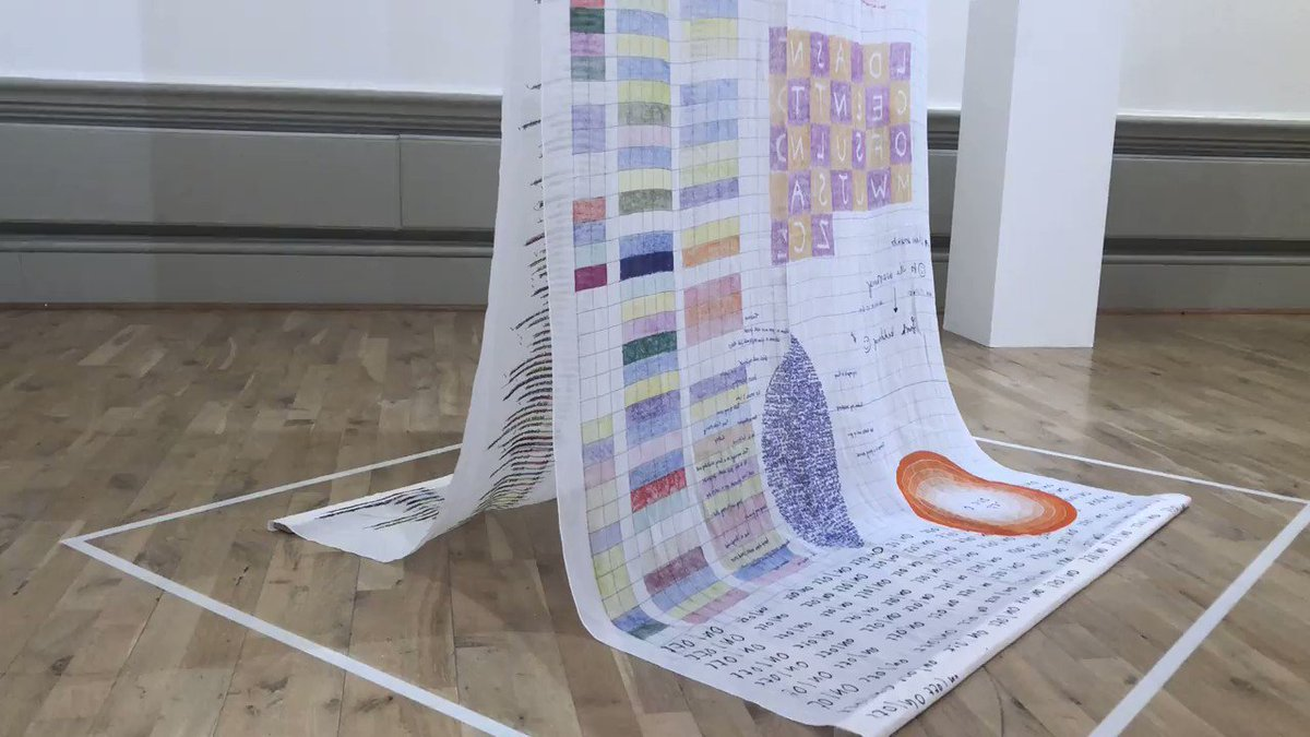 If you have an 8-12 year old that would like to help us make one of these to hang in the middle of our building, they would be more than welcome join us on Weds (10th April). Book your young person on:  http://bit.ly/2uUDluN  #HarrisContemporary