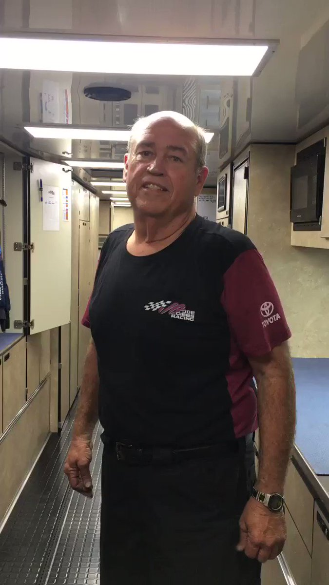Take a tour of the No. 19 @AutoOwnersIns hauler with Ken, one of the hauler drivers!