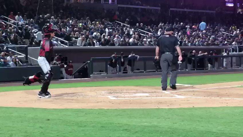 Might be the loudest boo in the history of umpire's.  I still love you guys though!! @MiLB @SportsCenter @MLB @AviatorsLV @LVBallpark @notthefakeSVP #umpire