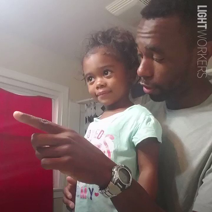 Father motivates daughter for school with positive #affirmations. 💛(Via @JukinMedia)