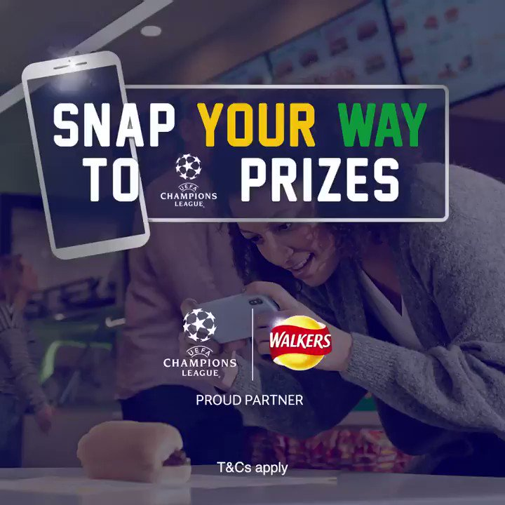 Head down to Subway and get 'snapping' for a chance to WIN UEFA Champions League Final Madrid 2019 Tickets, courtesy of @walkers_crisps 🏆 🙌🏼 ⚽️ #WIN #snapyourway #ad
