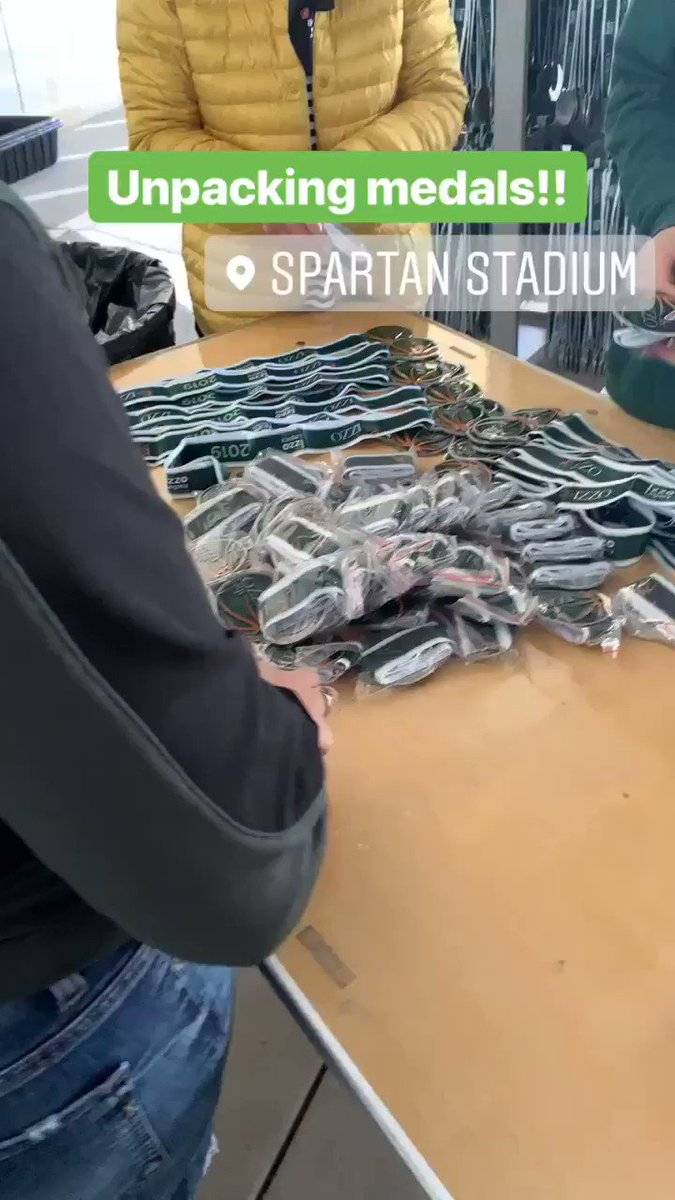 Medals are getting ready to go!