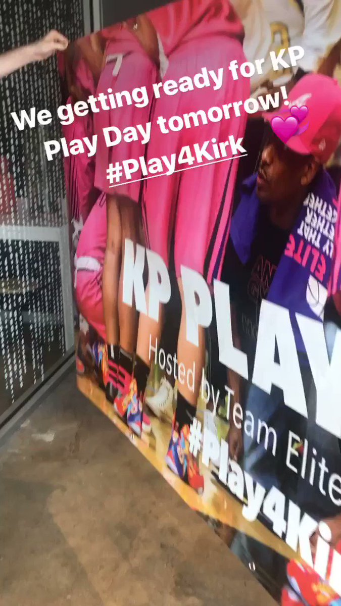 We putting the final touches on for tomorrow. Come out to The Walker School for the Annual KP Play Day.  #Play4Kirk – at The Walker School Tennis Courts