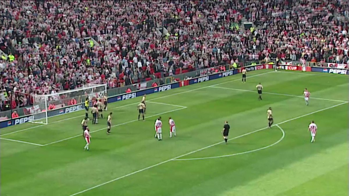 It's been 16 years to the day and I still can't explain how David Seaman did this.  He had business saving that. No business at all.