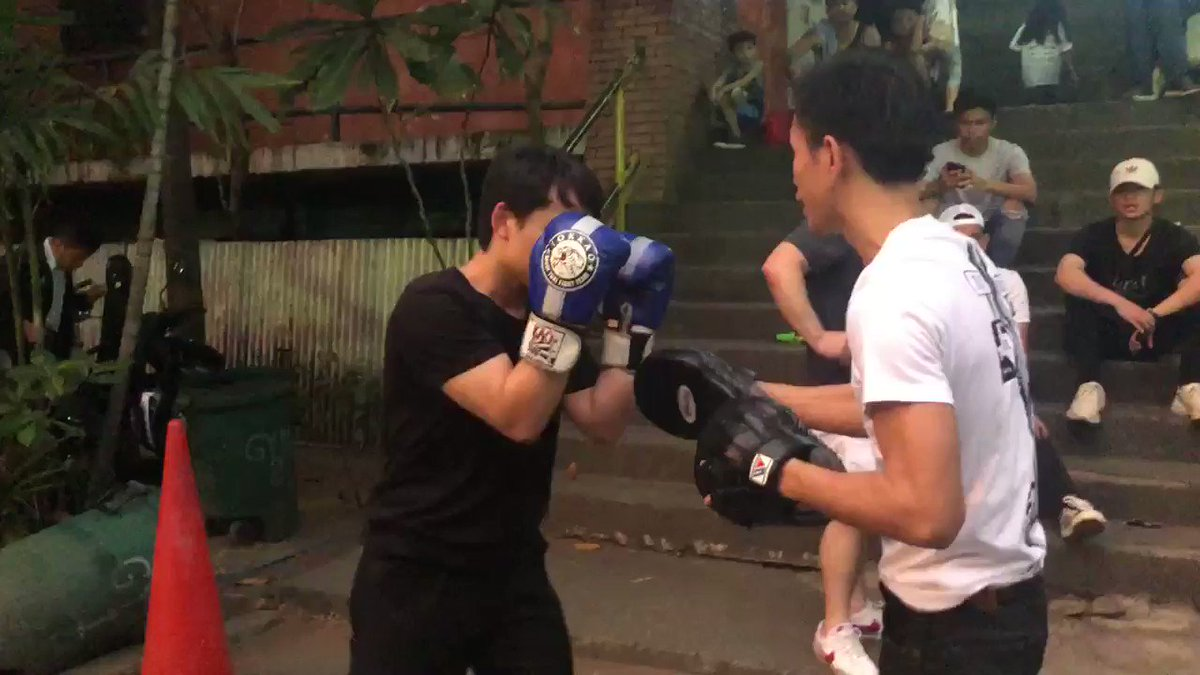 Manny: WATCH: Manny Pacquiao's son Jimuel warms up for his first