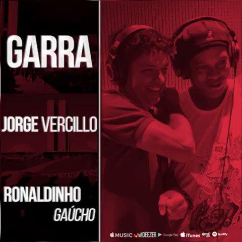 Mais uma da firma!!! GARRA, música de @jorge_vercillo , Alex Nunes e @10Ronaldinho ! Já em todas as plataformas digitais. Ouça agora 👉🏾http://onerpm.lnk.to/Garra 🤙🏾🎶