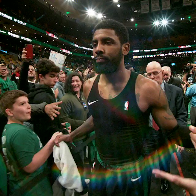 @KyrieIrving  20 PTS, 7 AST BOS leads 1-0 #PhantomCam #Celtics https://t.co/DiLItXlfD6