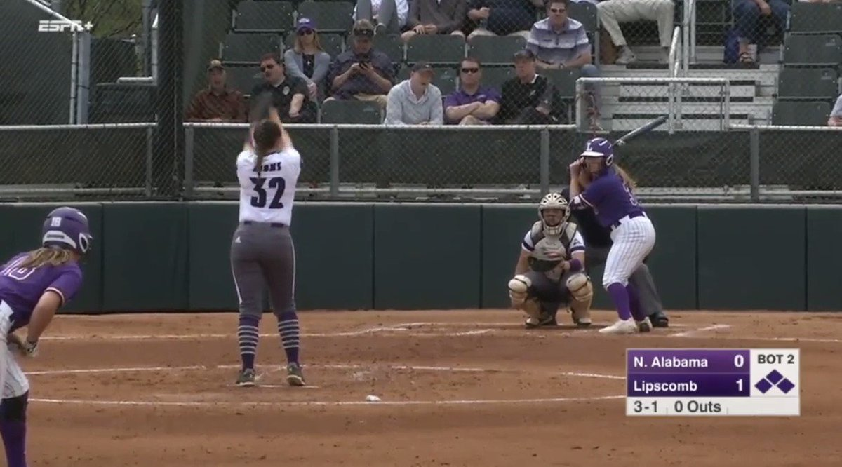 .@katie_turner31 bets a grand slam for @LipscombSB to go up 5-0 in the 2nd inning. #ASUNSB