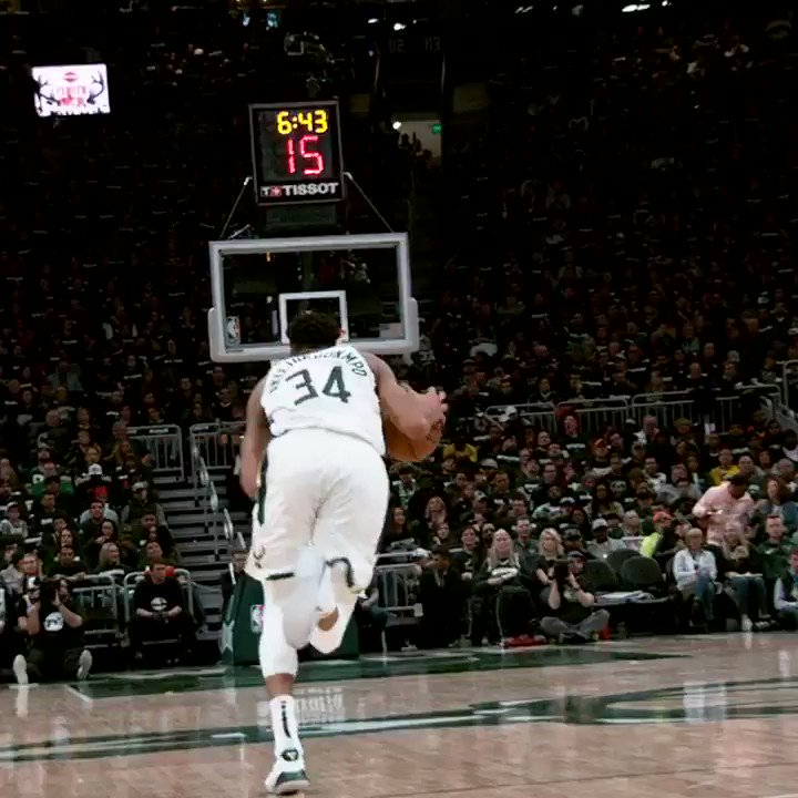 The Greek Freak strides and slams in #PhantomCam! ����  #FearTheDeer  #NBAPlayoffs @NBAonTNT https://t.co/72y8EqNGdn