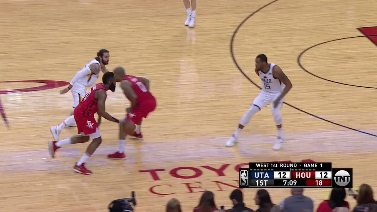 James Harden leads the way with 17 PTS and 7 AST in the 1st half on @NBAonTNT! #RunAsOne #NBAPlayoffs https://t.co/nh9iB3oXx9