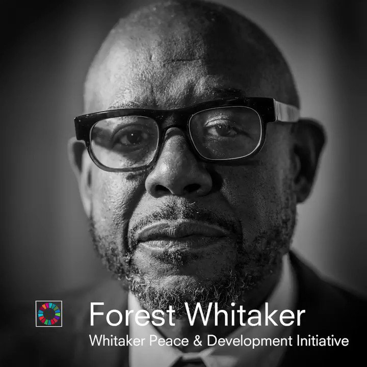 """""""If you want to have any effect on conflict, you have to utilize the motivating and moving source, which is the #youth."""" @ForestWhitaker explains what his WPDI initiative does for young people in the conflict-affected areas.  #SDGStudio @connectWPDI"""