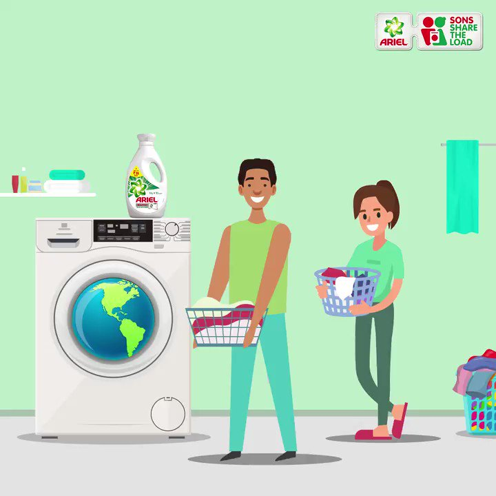 This World Laundry Day, make it a habit to #ShareTheLoad with your partner, because with Ariel, removing tough stains is easy!