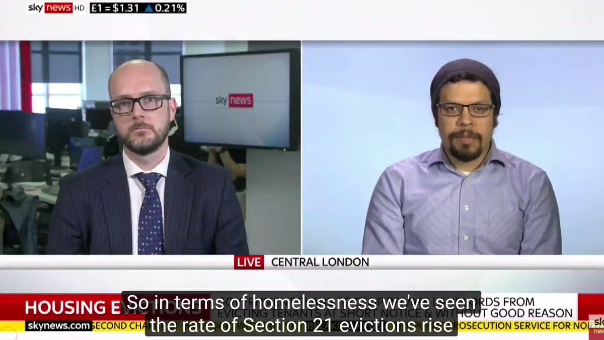.@sajeraj from our Spokesperson Network on #SkyNews on the government scrapping 'revenge evictions' and the massive contribution they make to the homelessness crisis #endsection21