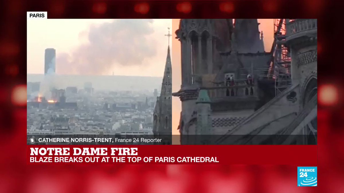 #NotreDame fire: 'There are hundreds and hundreds, if not thousands who are packing out the street here'  @cntrentF24, senior reporter for France 24, at the scene