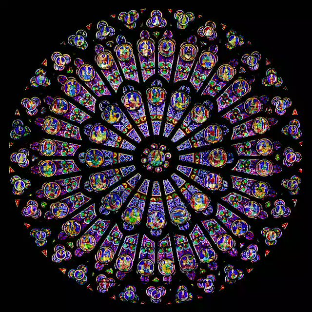 #NotreDameCathedral #Irreplacable  North Rose Window