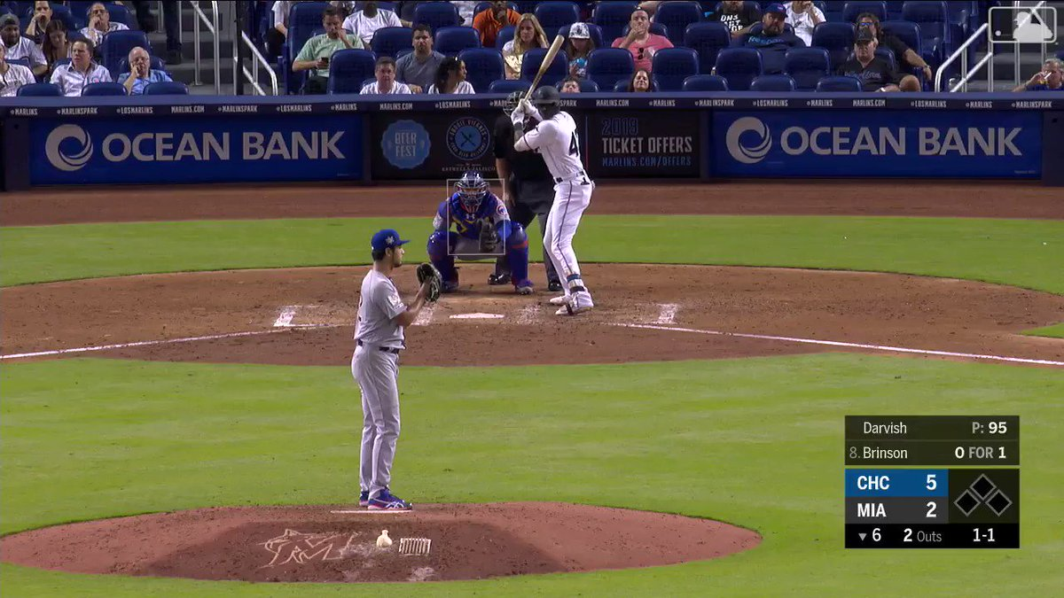 This Yu Darvish fastball hit a dude's beans at 99 MPH, then took out the umpire