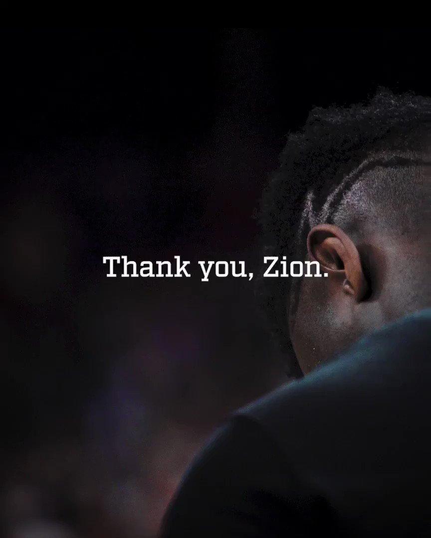A season unlike any other. Thanks, ZI🤯N. @ZionW32
