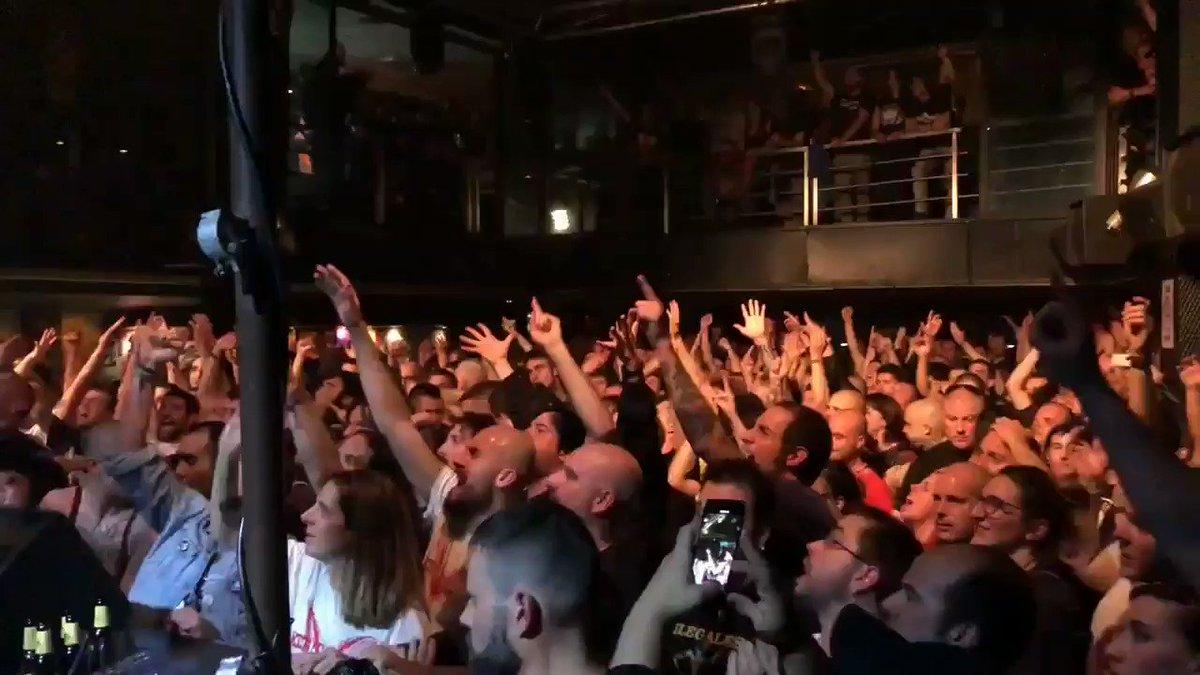 🎥🤯😱 @cocksparrer live at #JimmyJazzGasteiz BRUTAL!!
