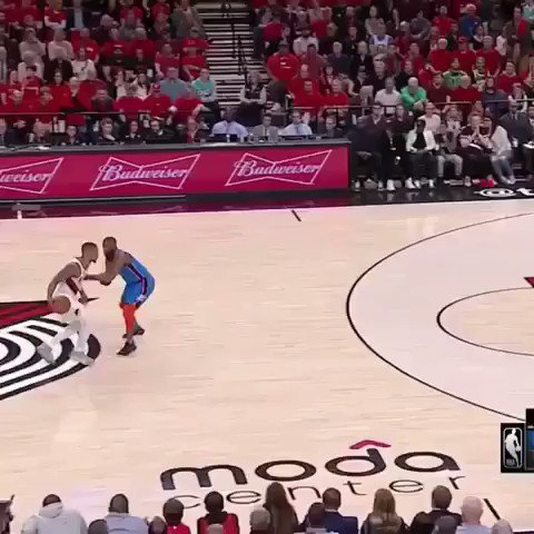 That's a bad man. He should be in the conversation for top 3 points in the league   #damianlillard #portland #blazers #trailblazers #portlandtrailblazers #nbaplayoffs #playoffs https://t.co/kFojzDL91i