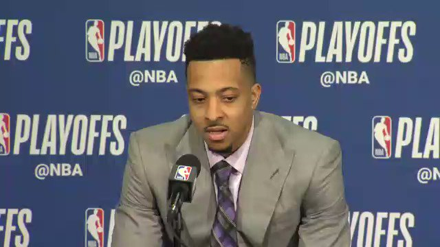 """I'm just thankful for the opportunity. It's a blessing to be able to play this game at the highest level. Seeing Nurk go down, it gives you a clarity and understanding you shouldn't take this game for granted ever.""  @CJMcCollum after his 33 point night #RipCity @bosnianbeast27"