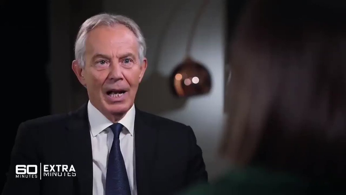 Image for the Tweet beginning: Tony Blair - Britain has